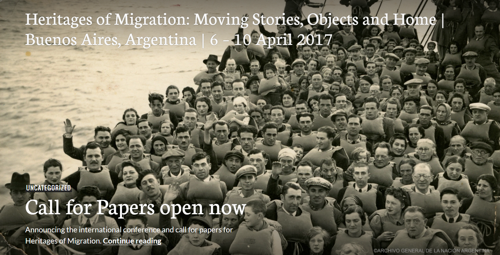 CFP / Heritages of Migration : Moving Stories, Objects and Home. (Buenos Aires) Avril 2016